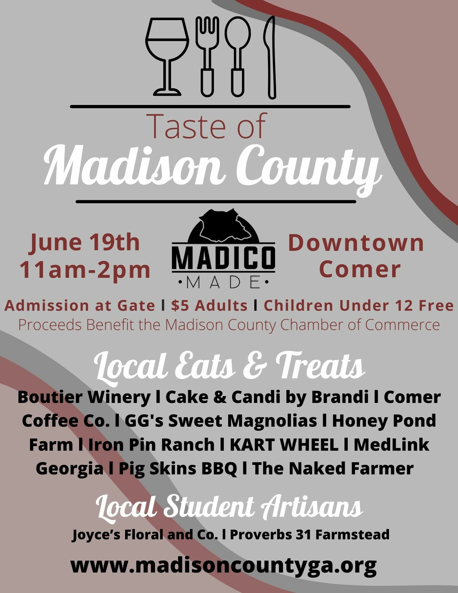 Taste of Madison County Flyer (3)