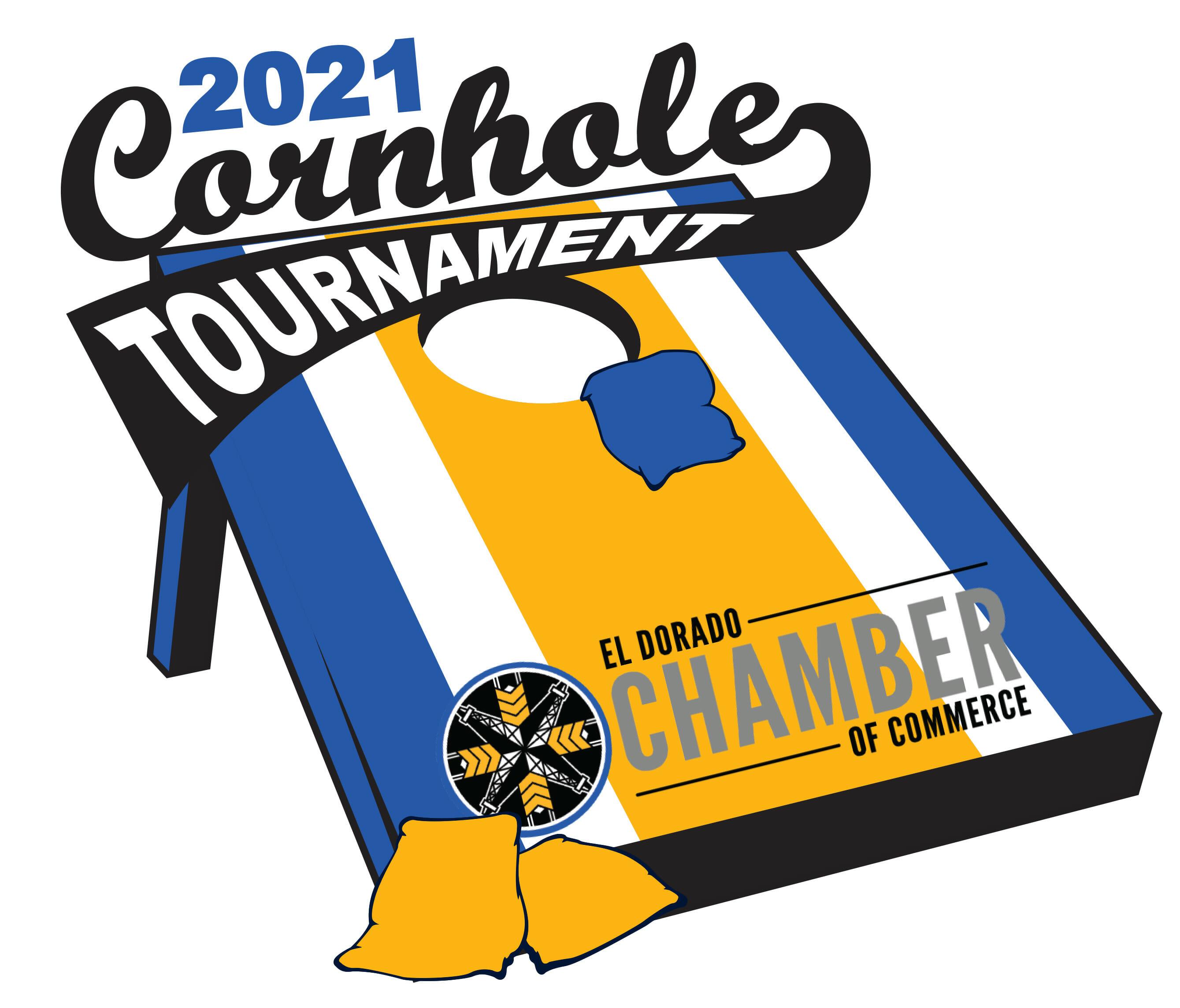 Cornhole tournament logo for print