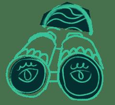 binoculars green