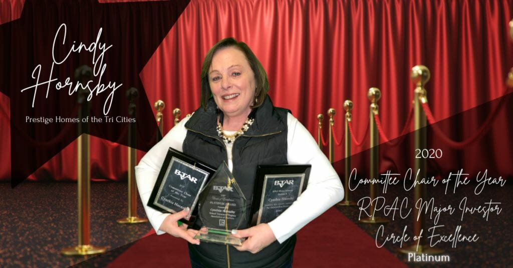 Cindy Hornsby - Committee Chair of the Year/RPAC Major Investor/Circle of Excellence Platinum