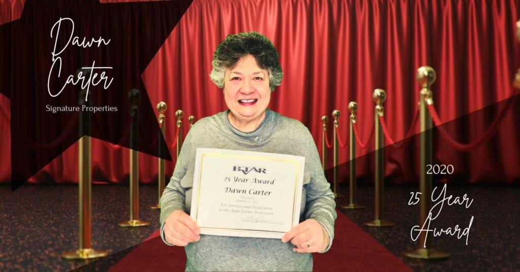 Dawn Carter - 25 Year Award