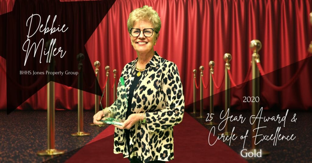 Debbie Miller - 25 Year Award & Crcle of Excellence Gold