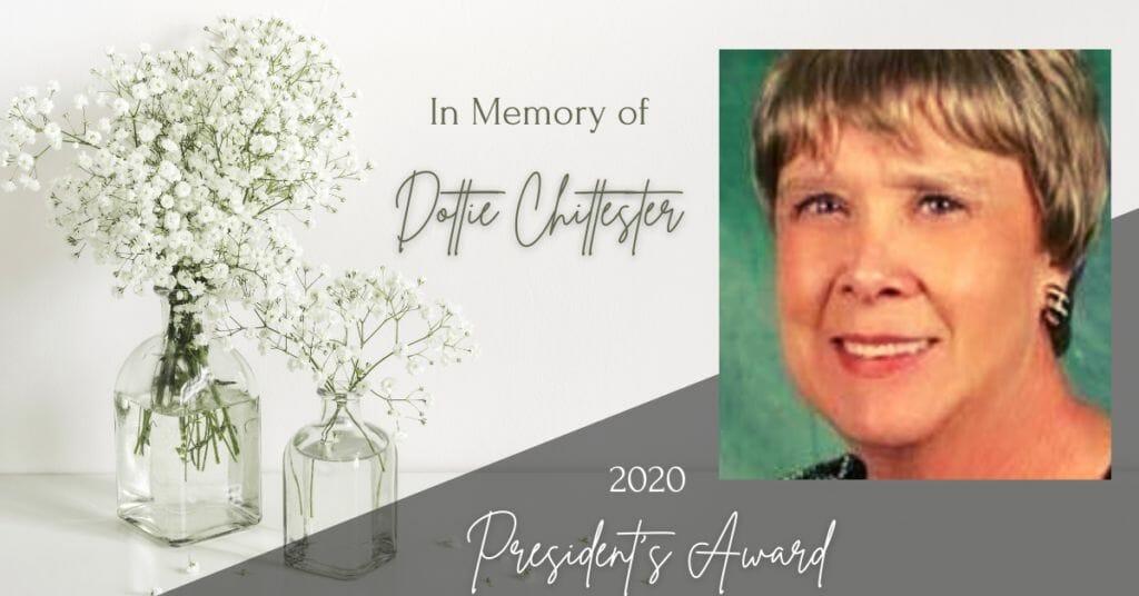 In Memory of Dottie Chittester - President's Award