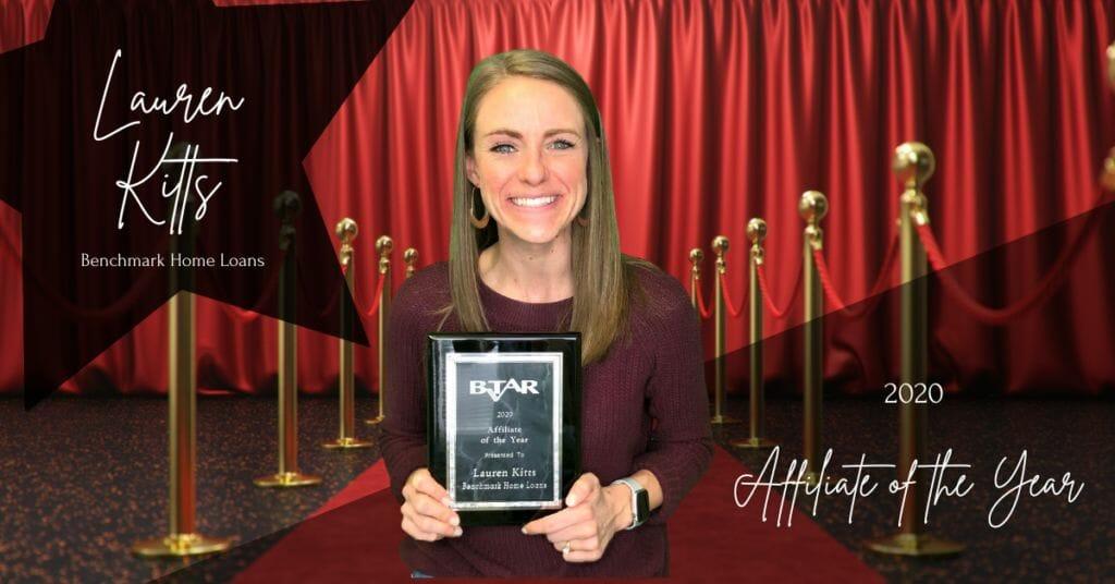 Lauren Kitts - Affiliate of the Year
