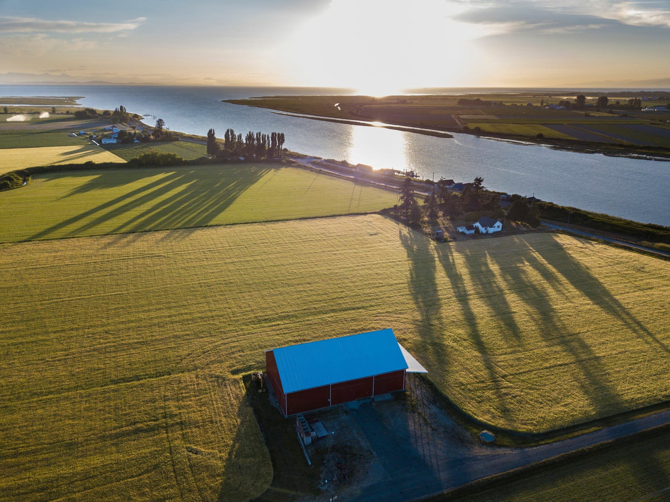 Delta farmland next to the Fraser River