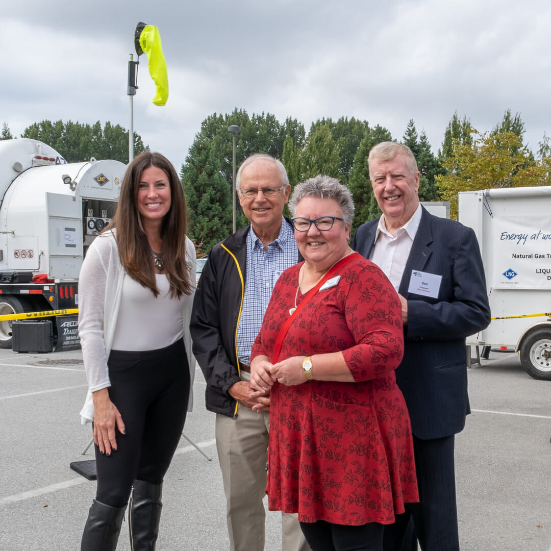 four delta chamber members at event