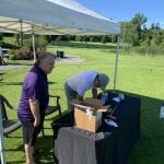 Garry and Steve Erikson at Putting Tent