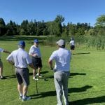Garry with Rotary Ladner at Tee Off