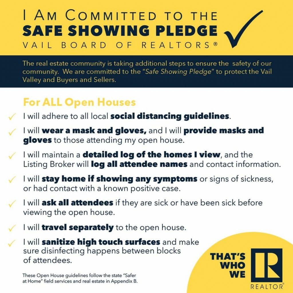 Safe Showing Pledge Open Houses