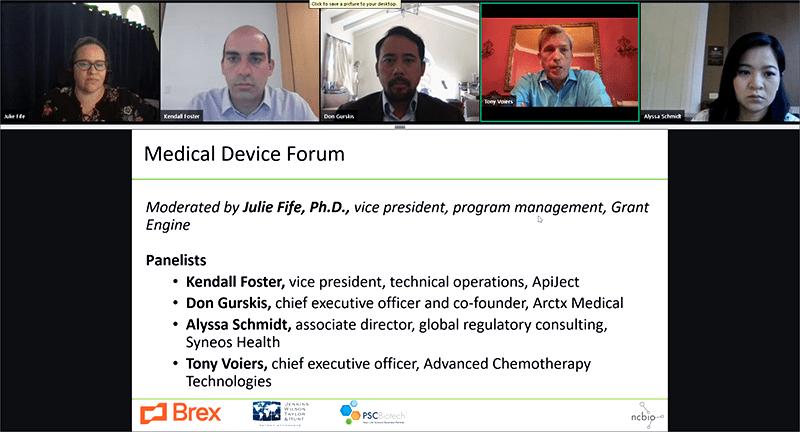 NCBIO Medical Device Forum panelists