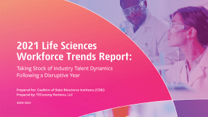 2021 Life Sciences Workforce Trends Report cover