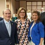 Rep. Robert Reives, Sen. Paul Newton, NCBIO President Laura Gunter, Rep. Donna White and Sen. Mike Woodard.