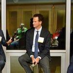 U.S. Rep. Greg Murphy, M.D.; Prof. David Ridley, Ph.D.; and BIO VP Mike Mattoon