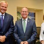 NCBIO Chairman Neal Fowler, U.S. Rep. Greg Murphy (NC-3) and NCBIO President Laura Gunter