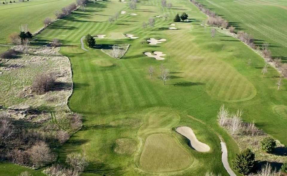 Jefferson Golf Course in Jefferson, Wisconsin overhead scene