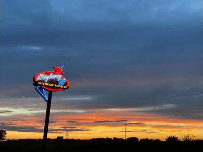 Highway 18 Outdoor Theatre Sign