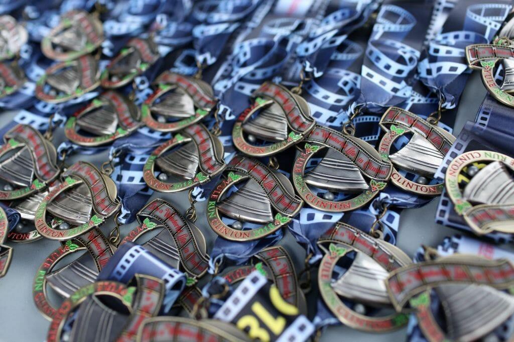 Yule Run Clinton 2018 Medals