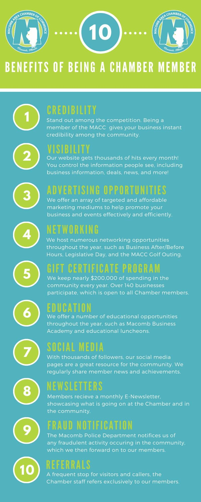 10 Benefits of Being a Chamber Member