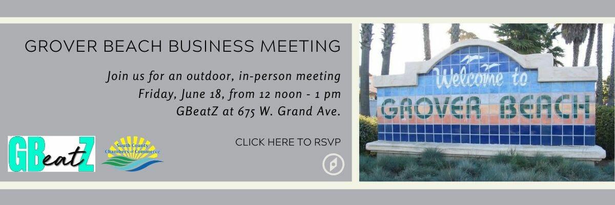 Grover Beach Business Meeting