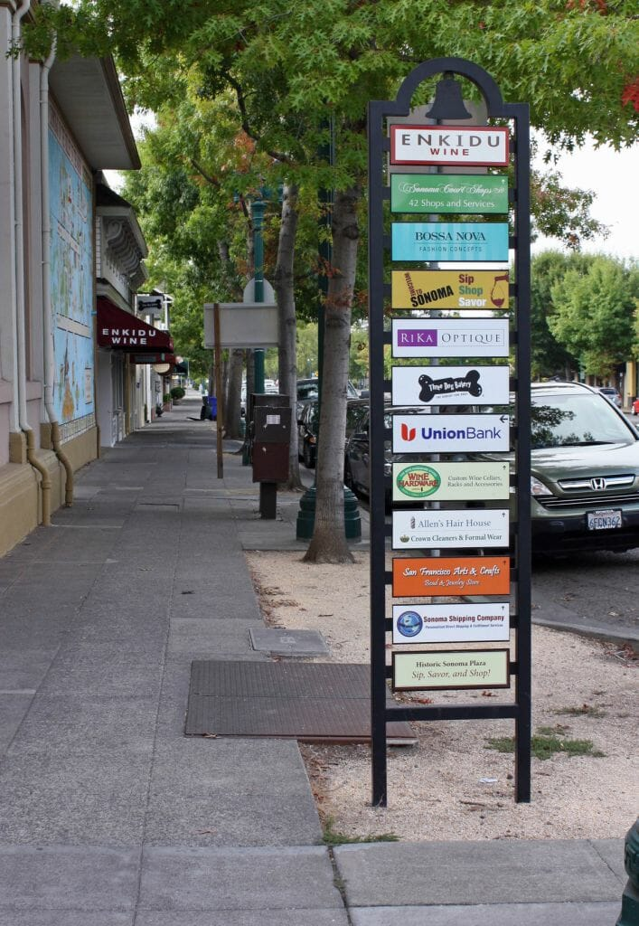 business way-finding signs