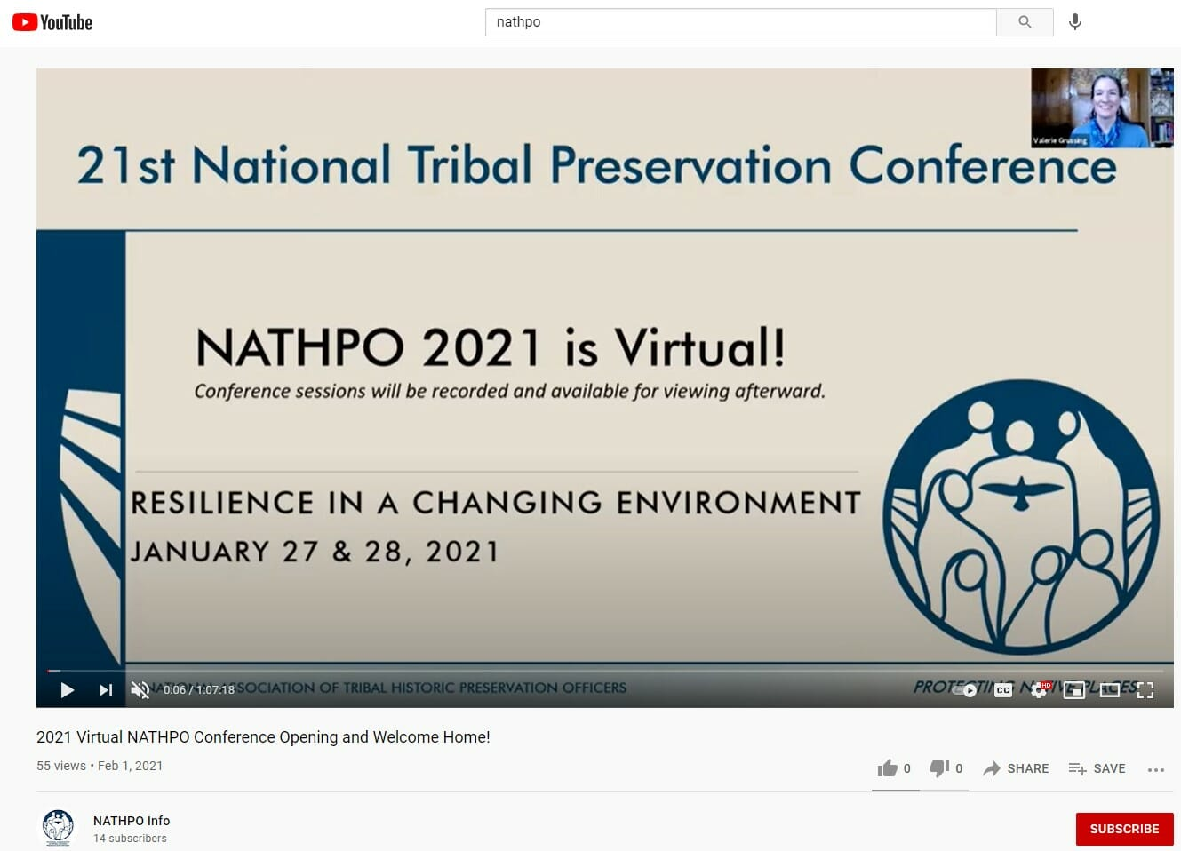 2021 Virtual NATHPO Conference Opening and Welcome Home!