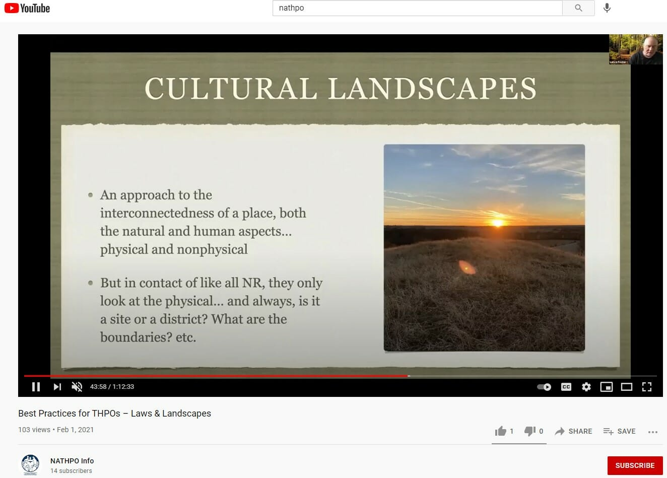 Best Practices for THPOs – Laws & Landscapes