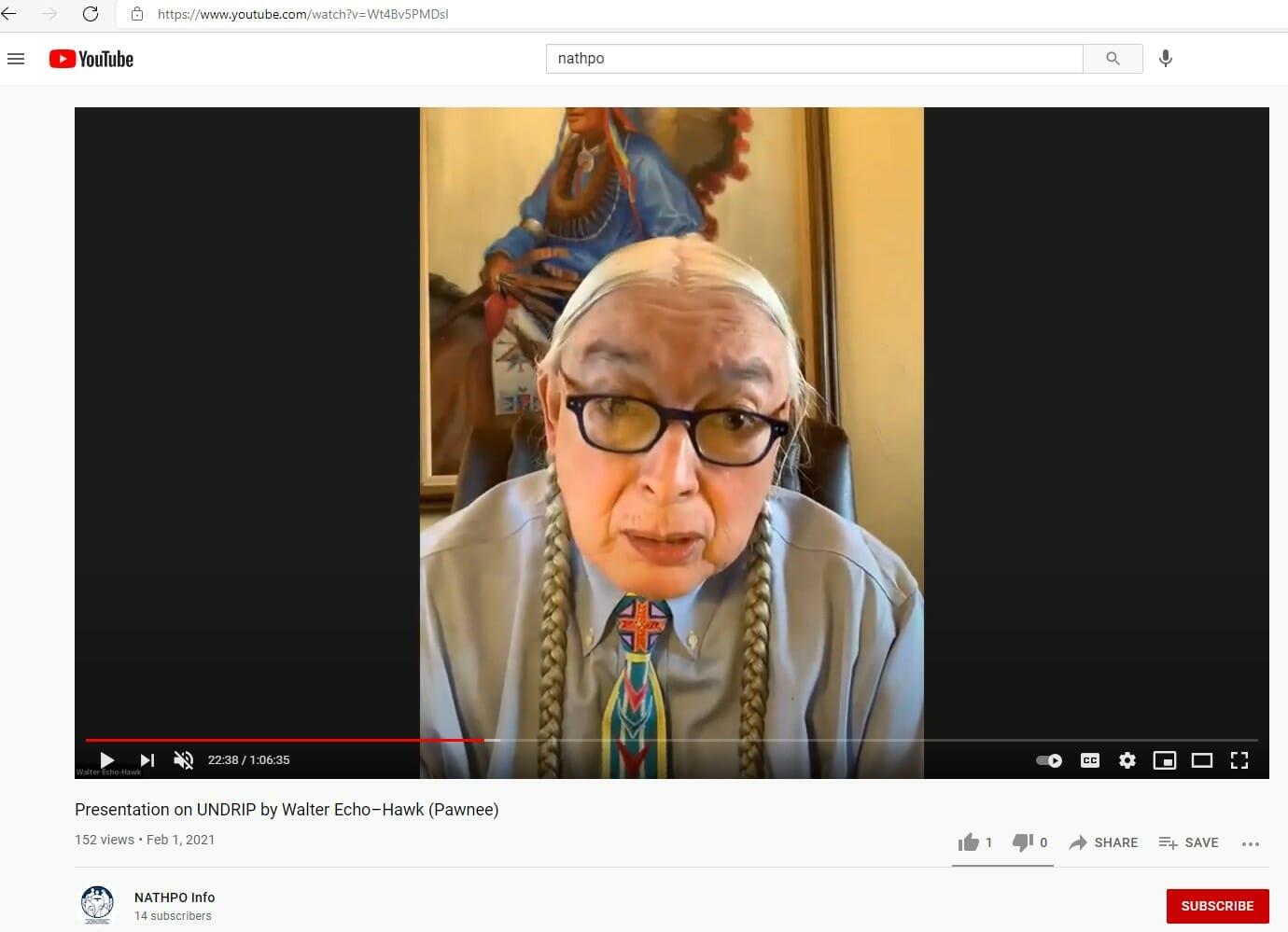 UNDRIP Presentation: Walter Echo-Hawk