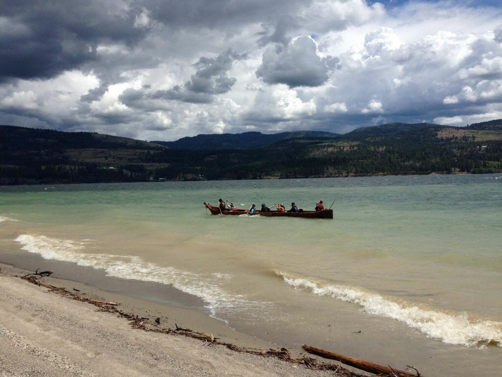 canoe journey to Kettle Falls for: youth development - tribal pride, establishing aboriginal rights for the snʕayckst (Arrow Lakes of Washington State and British Columbia) bringing Salmon back to the Upper Columbia River
