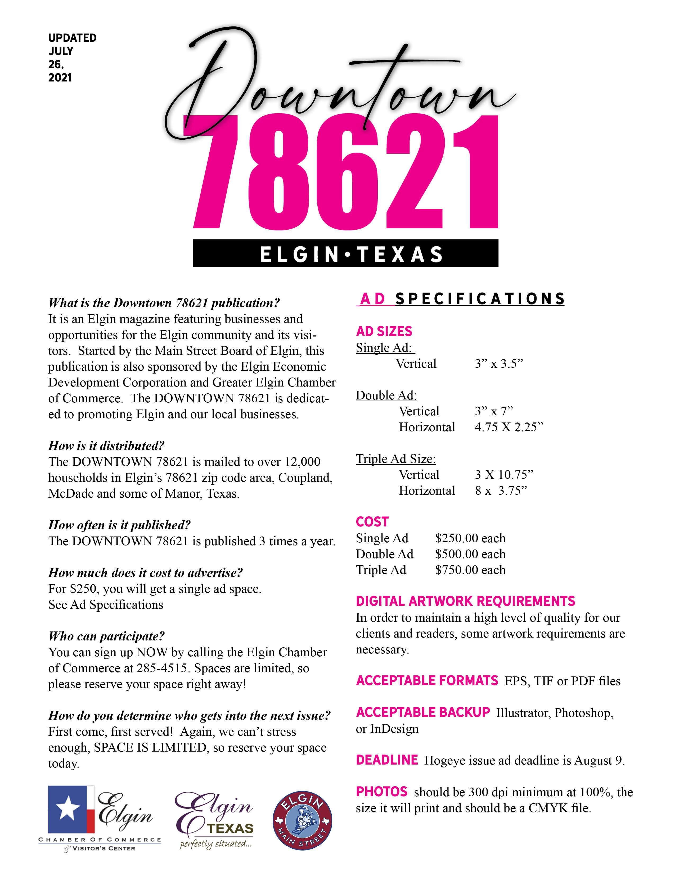 Downtown 78621 Ad Specs 2021