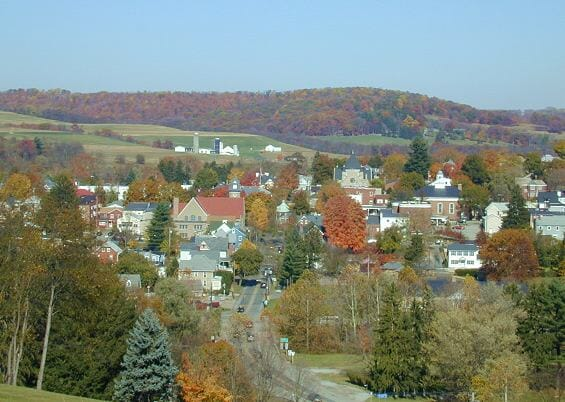 Looking North over the beautiful town of Ligonier