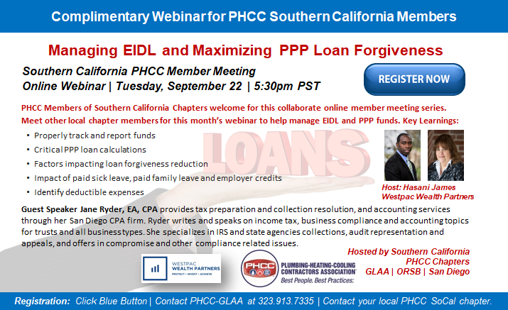 PHCC SoCal Fall 2020 Webinar Series