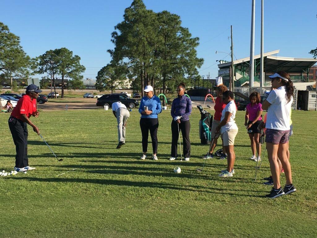 ladies golfing