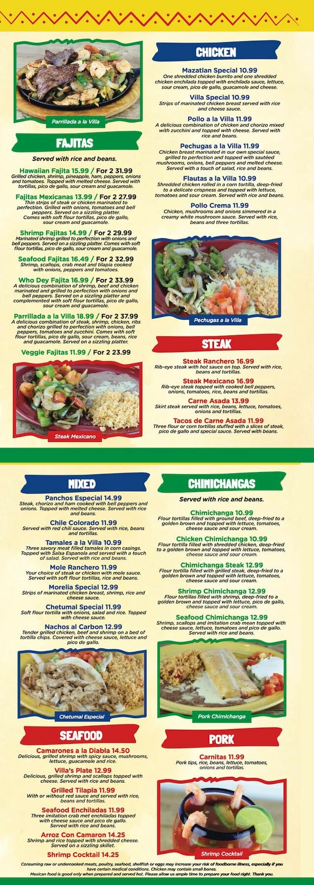 pancho menu