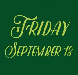 Friday September 18