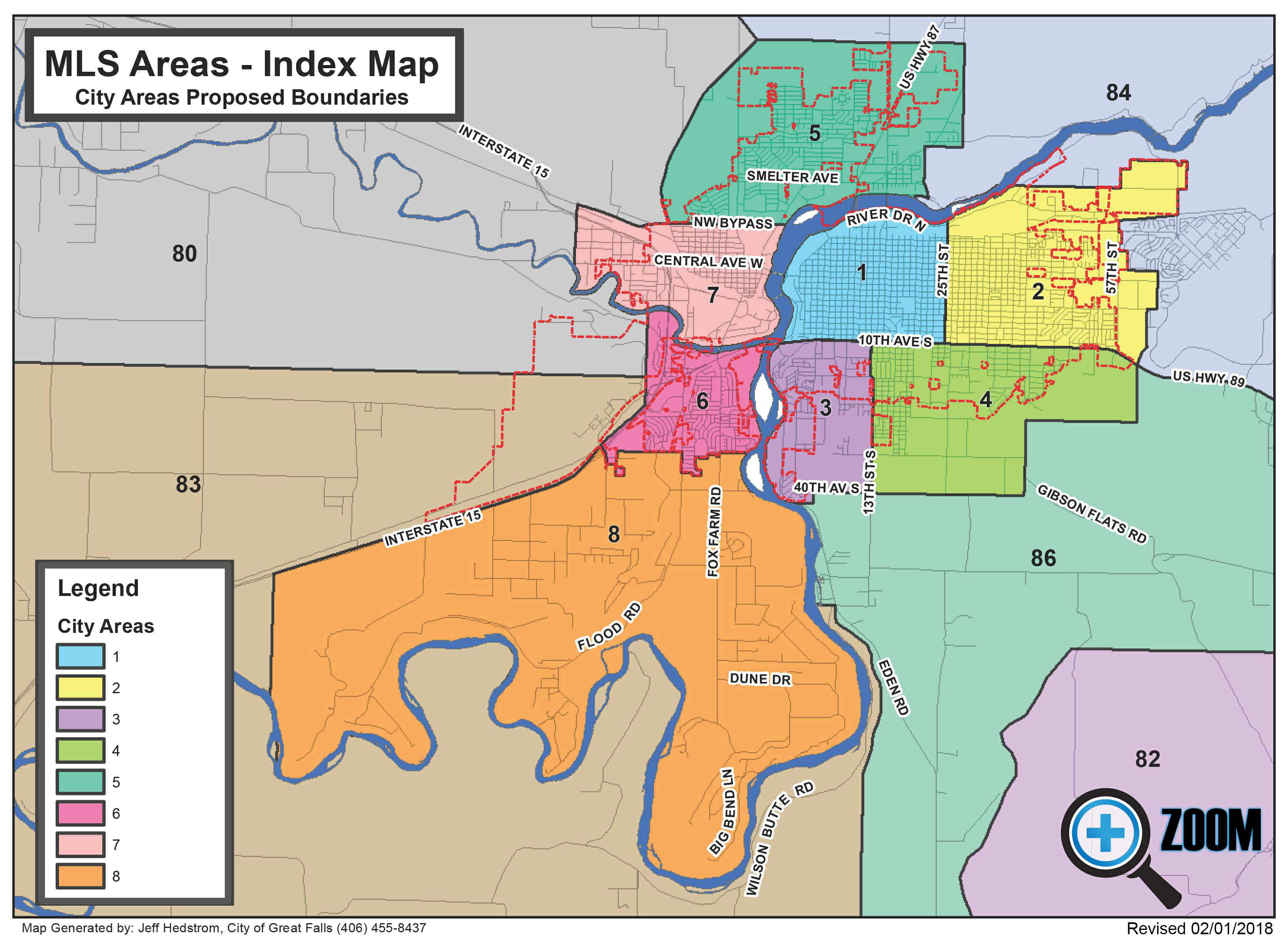 City MLS Areas