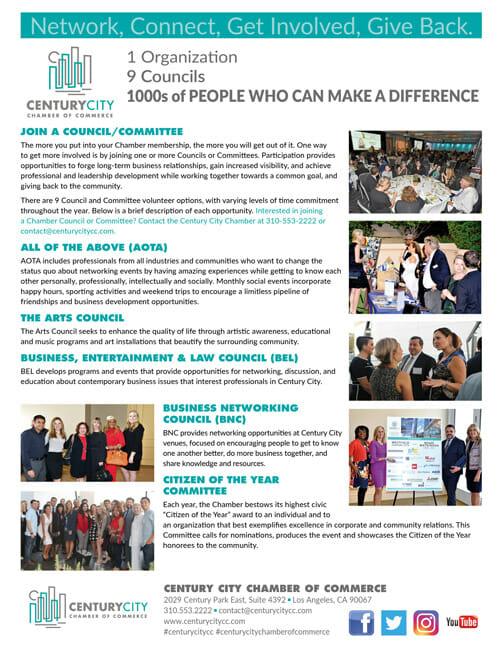 Century city Council flyer front