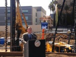 groundbreaking for the 10000 Santa Monica Boulevard residential building