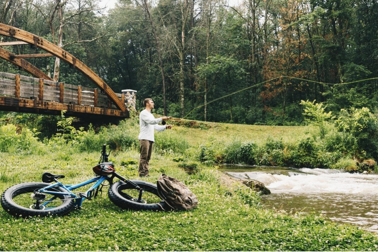 Sparta Bike Fishing- Bicycle Trails Leading To Trout Streams
