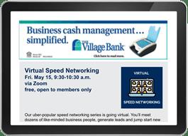 Email Banner Ad Village Bank