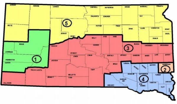 South Dakota Supreme Court District Map