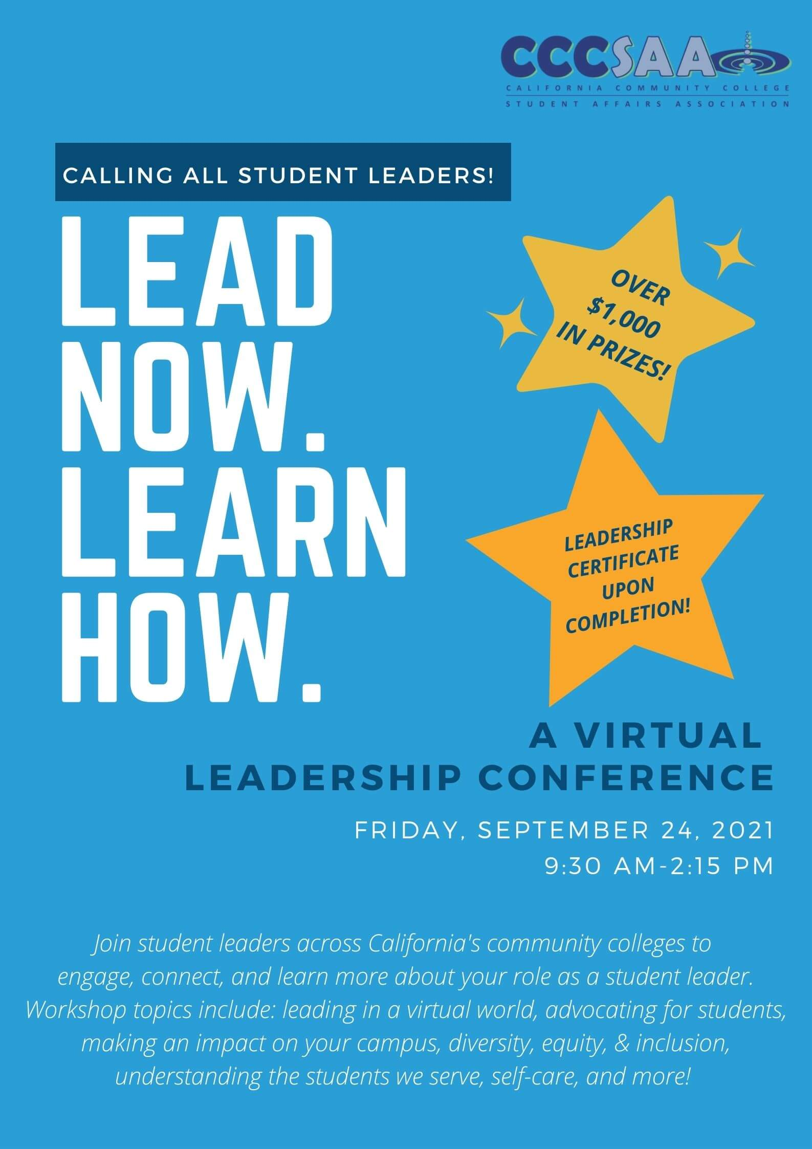 Flyer to the Virtual Leadership Conference