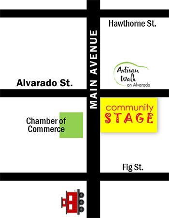 Community Stage map