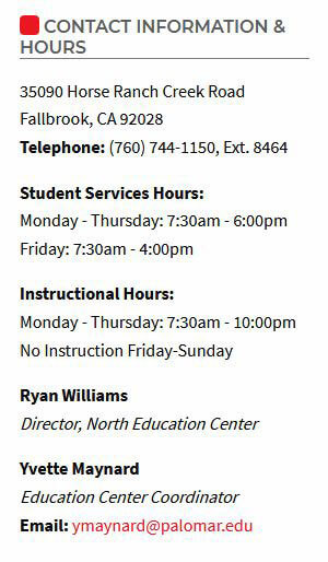 contact info for college