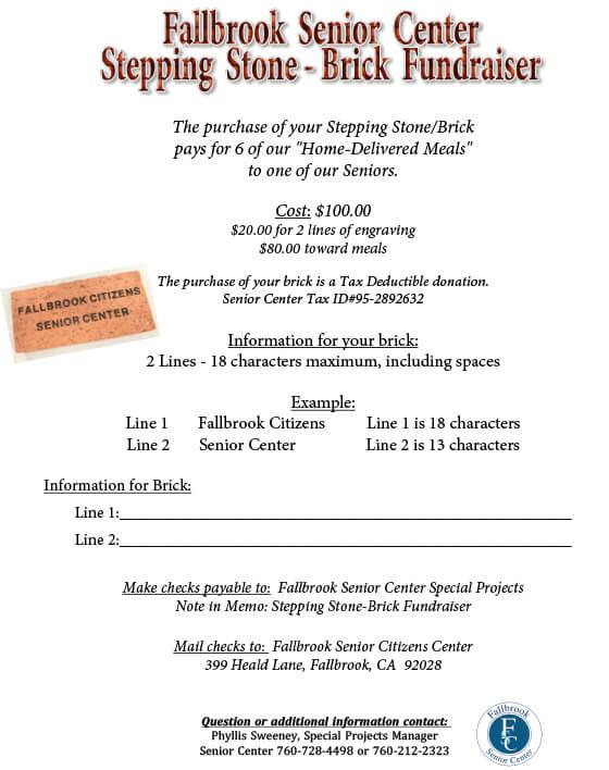brick fundraiser flyer