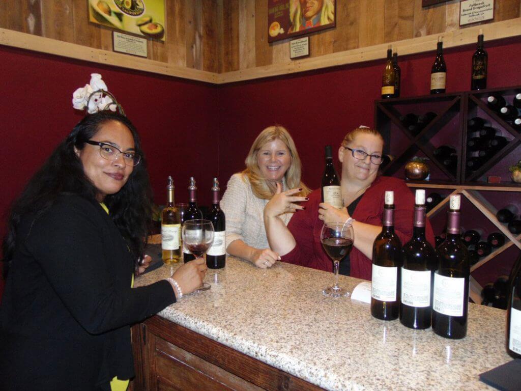 Ladies enjoying drinks