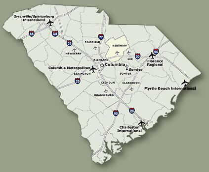 South Carolina State Map
