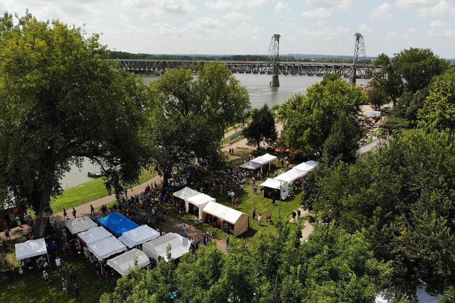 riverboat days aerial homepage