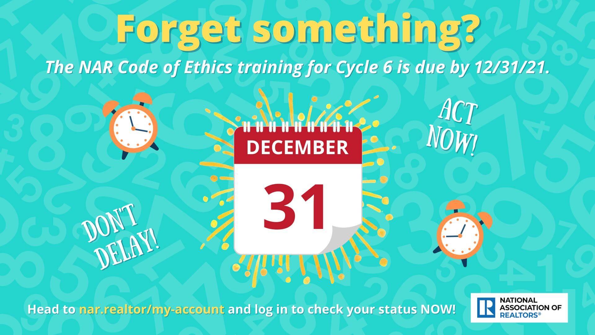 TV Slide COE Reminder Cycle 6