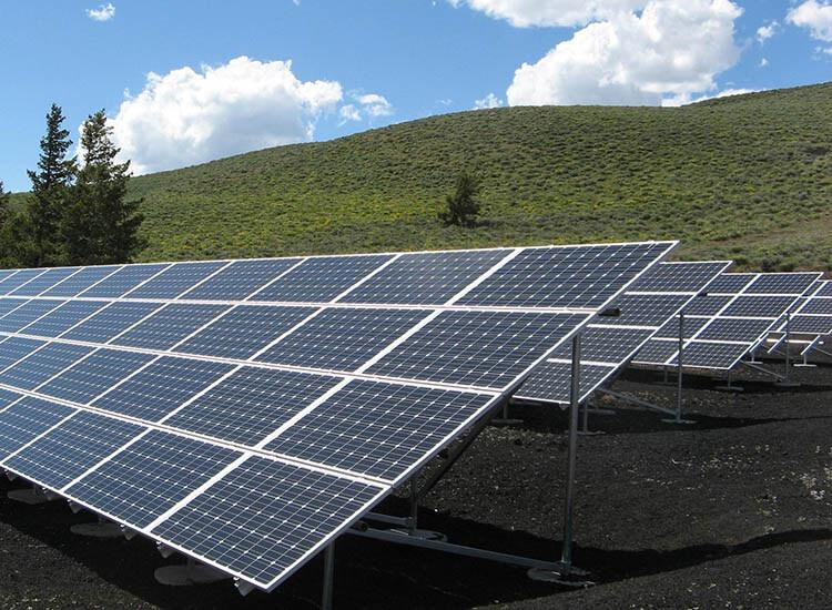 solar panels hills