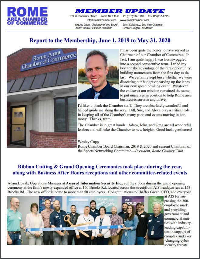 May 31 2020 Annual Report Cover